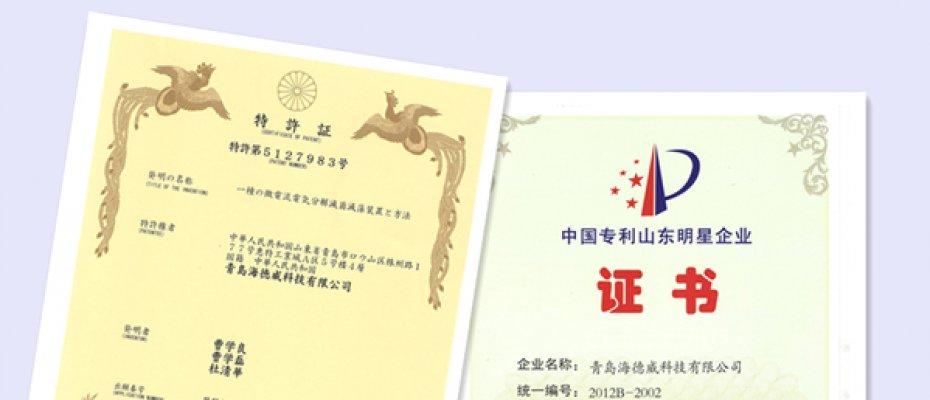"""海洋卫士™ 压载水处理系统再获国际发明专利授权,荣膺""""青岛名牌"""""""